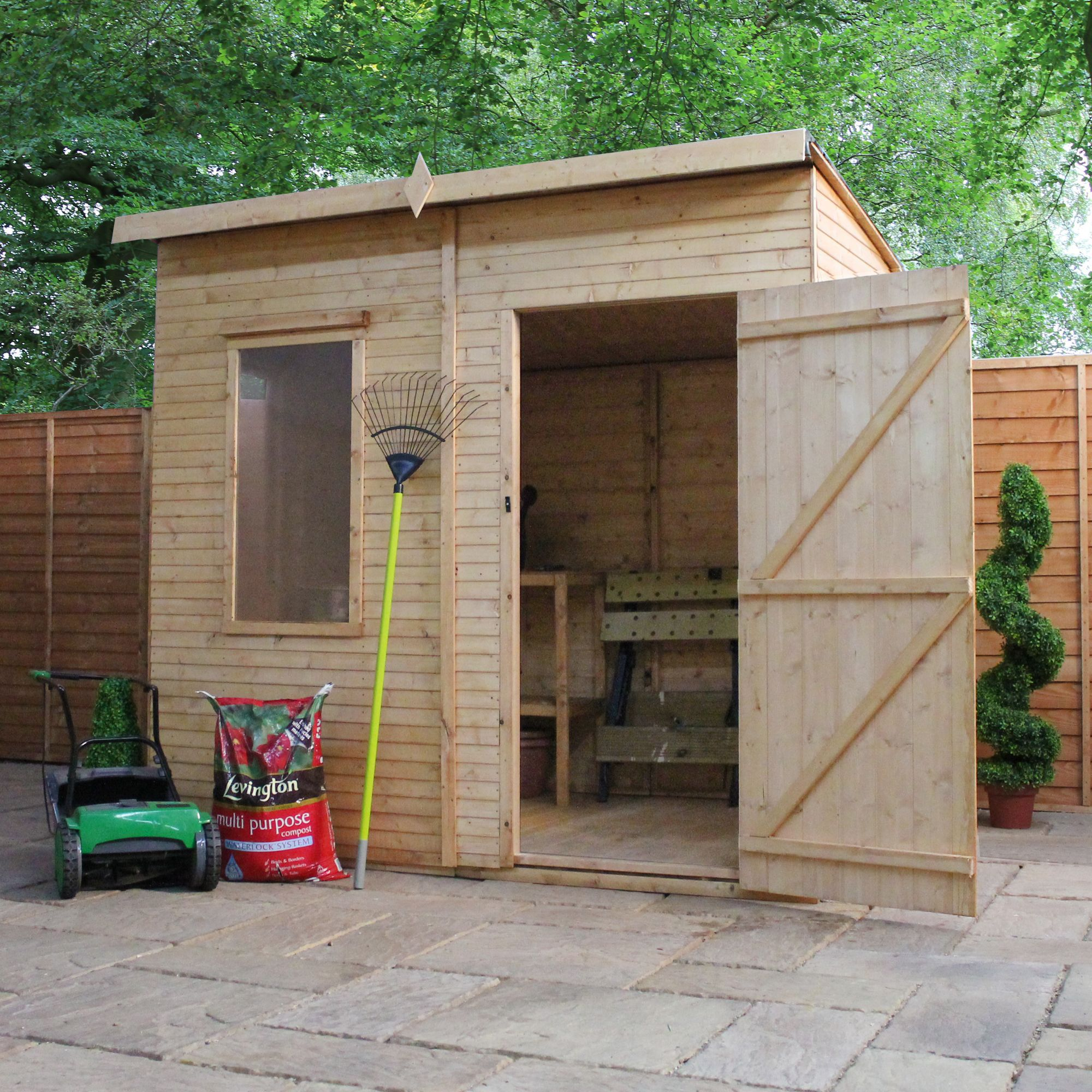 8x6 aero curved roof shiplap wooden shed with assembly for Garden shed 8x6
