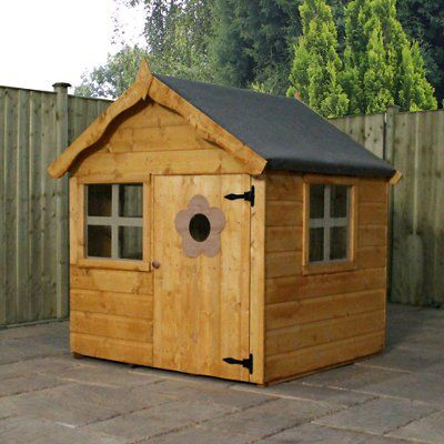 4x4 wooden playhouse with assembly service