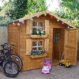 7X5 Wooden Playhouse with Base with Assembly Service