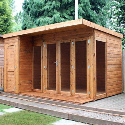 12x8 combi garden room shiplap timber summerhouse store for Garden shed 7x7