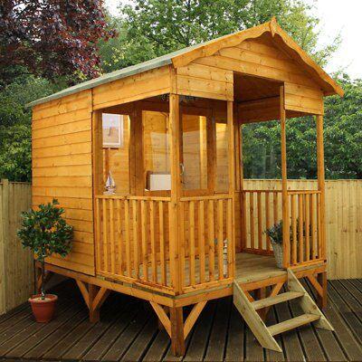 10x8 beach hut shiplap wooden summerhouse departments for Garden rooms b q