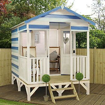 11X8 Beach Hut Shiplap Wooden Summerhouse