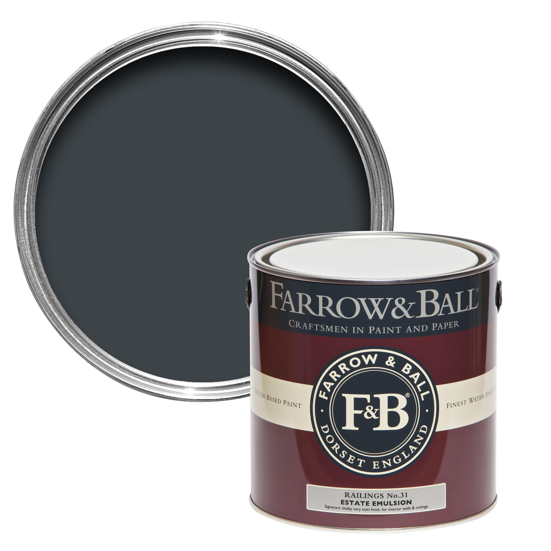 garage security ideas - Farrow & Ball Railings No 31 Matt Estate Emulsion Paint 2