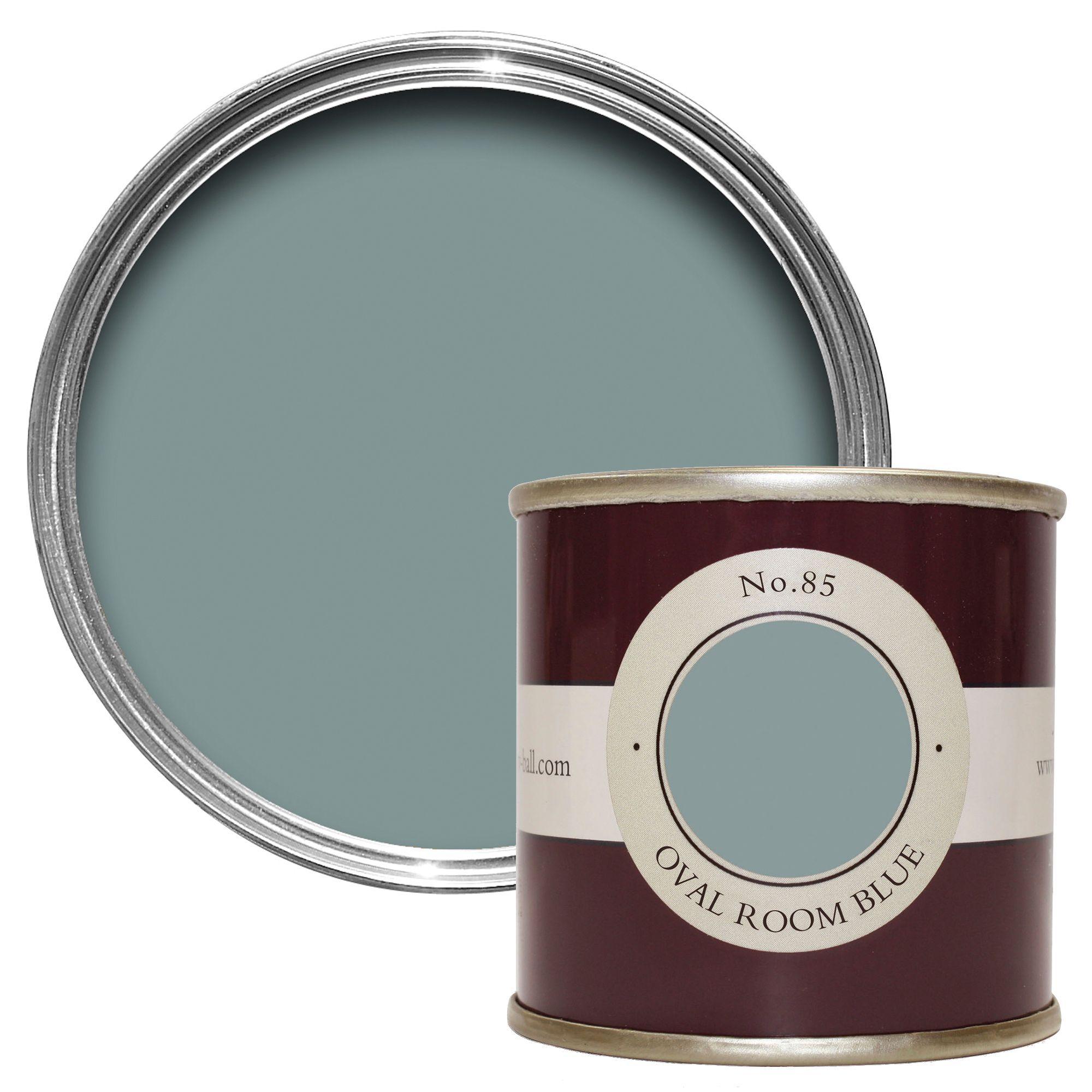 Farrow & Ball Oval Room Blue no.85 Estate emulsion paint 0 ...