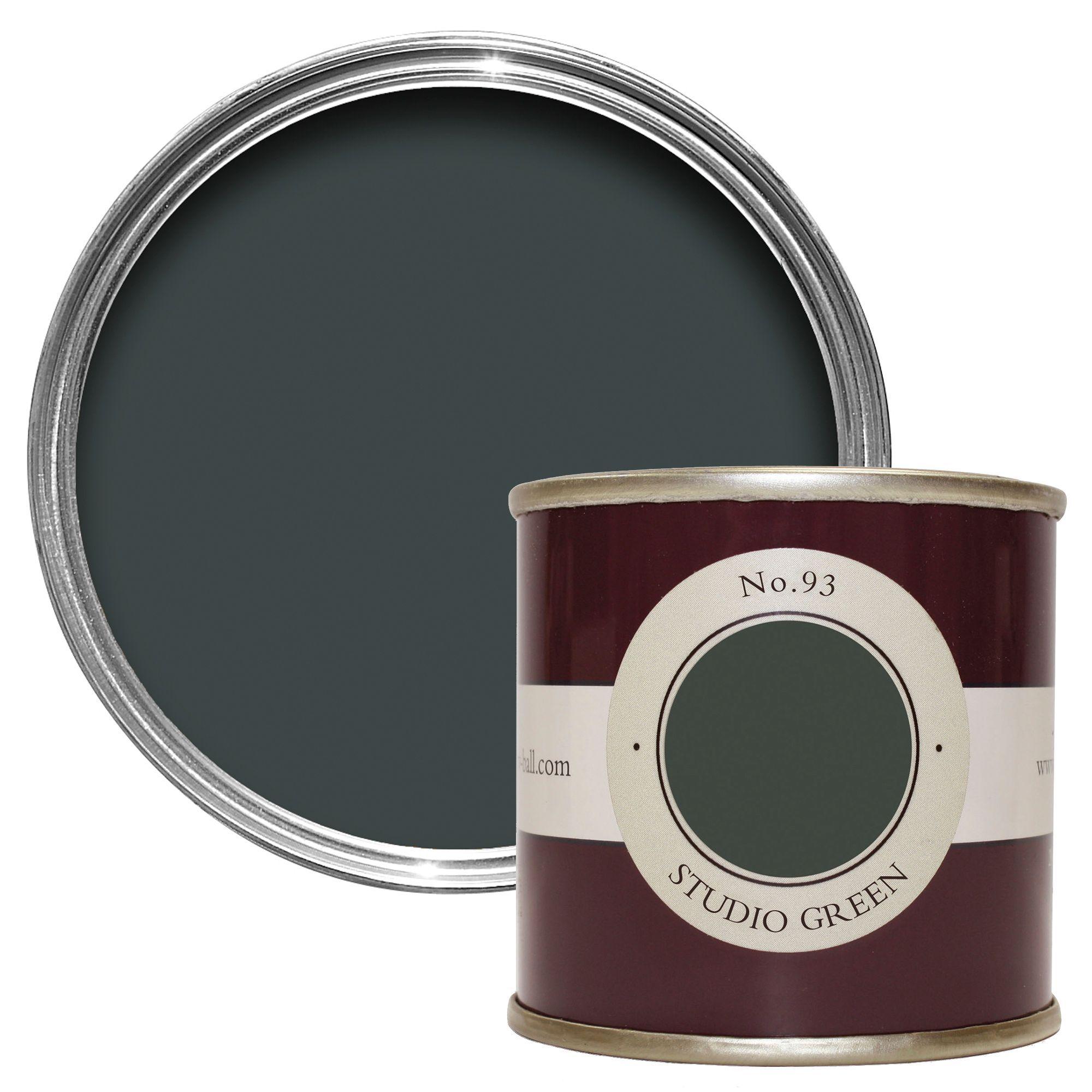 farrow ball studio green estate emulsion paint 0 1l tester pot departments diy at b q. Black Bedroom Furniture Sets. Home Design Ideas