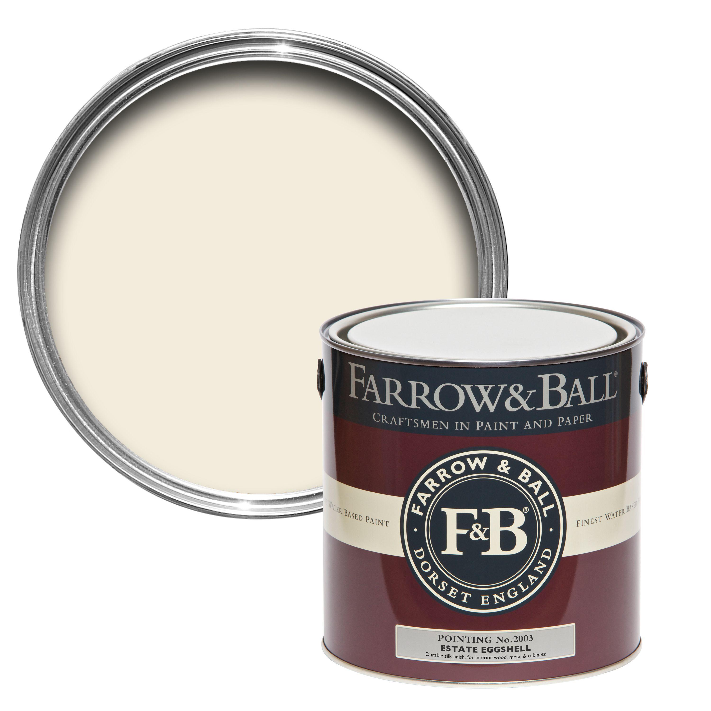 Farrow Ball Estate Eggshell Pointing Silk Sheen Estate Eggshell Paint 2 5l