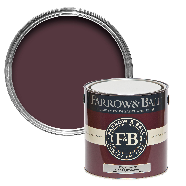 farrow ball brinjal no222 matt estate emulsion paint 25l departments diy at bq - Farrow And Ball Brinjal