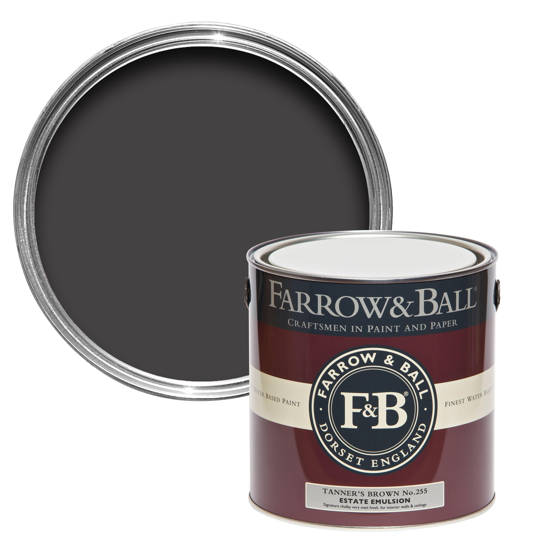 Farrow & Ball Tanners Brown No.255 Matt Estate Emulsion Paint 2.5l