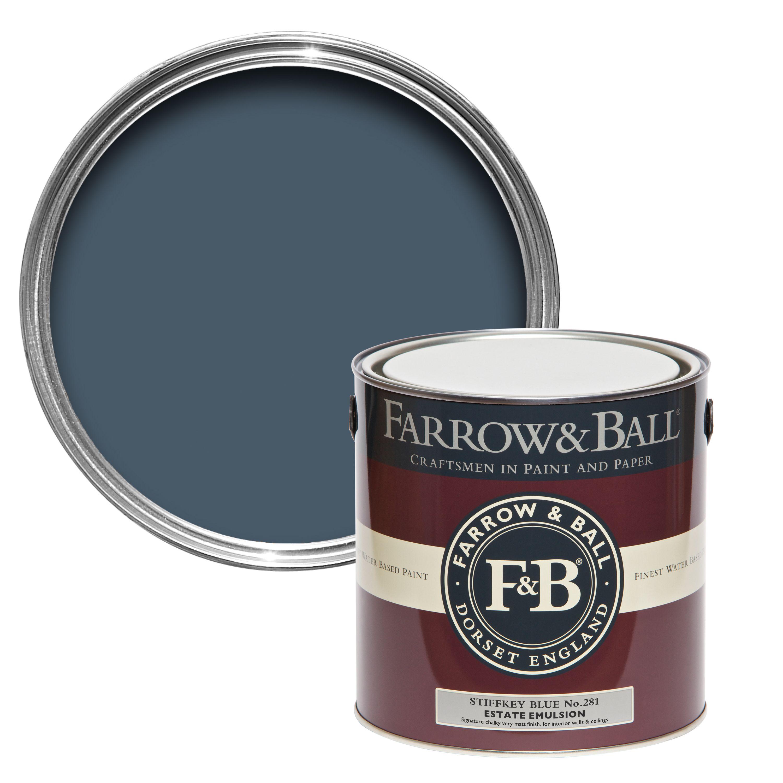 Farrow ball stiffkey blue matt estate emulsion for Where to buy farrow ball paint