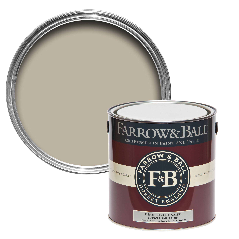 farrow u0026 ball drop cloth no283 matt estate emulsion paint 25l departments diy at bu0026q