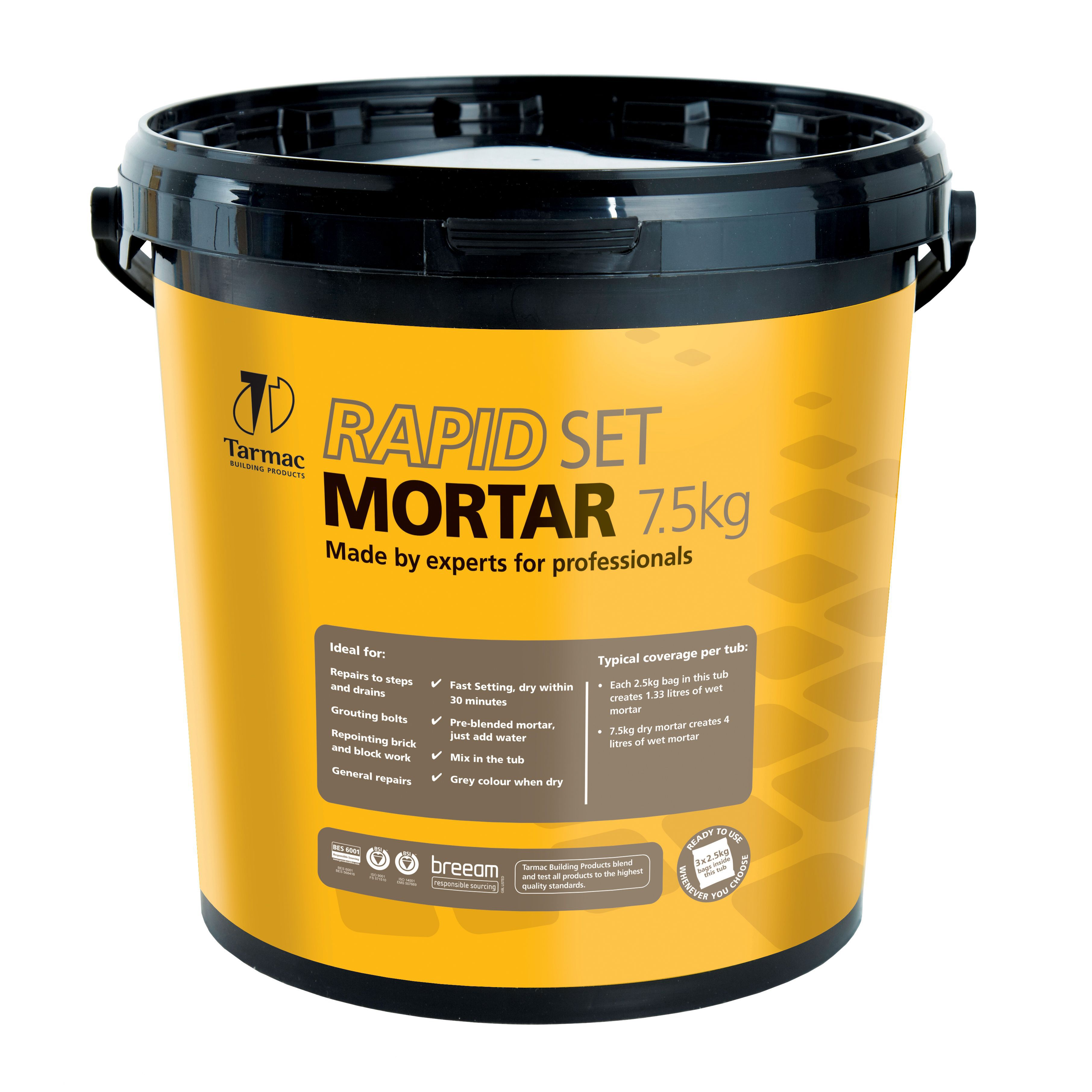 Tarmac Cempak Ready to Use Mortar 75kg Plastic Tub Departments
