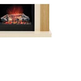 Be Modern Blakemere Black Electric Fire Suite