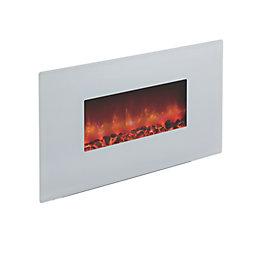 Be Modern Cortona White Glass Remote Control Wall