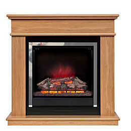 Be Modern Avalon Oak Effect LED Electric Fire