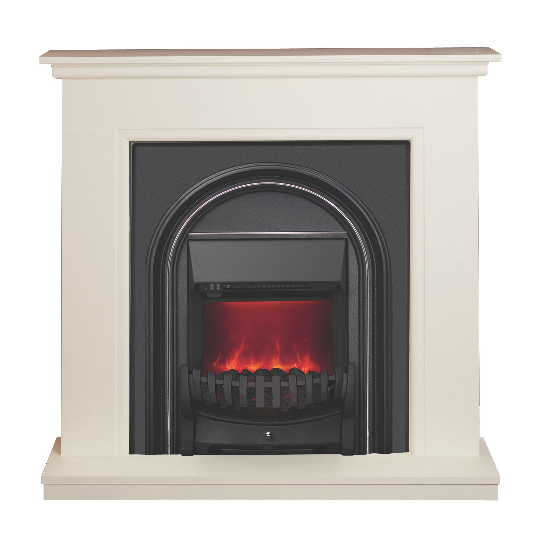 Modern Electric Fire Suites Part - 27: Be Modern Colville Soft White U0026 Anthracite LED Electric Fire Suite |  Departments | DIY At Bu0026Q