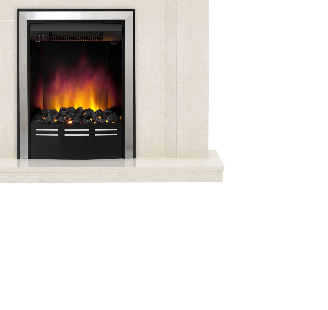 be modern mariano led electric fire suite departments diy at b u0026q