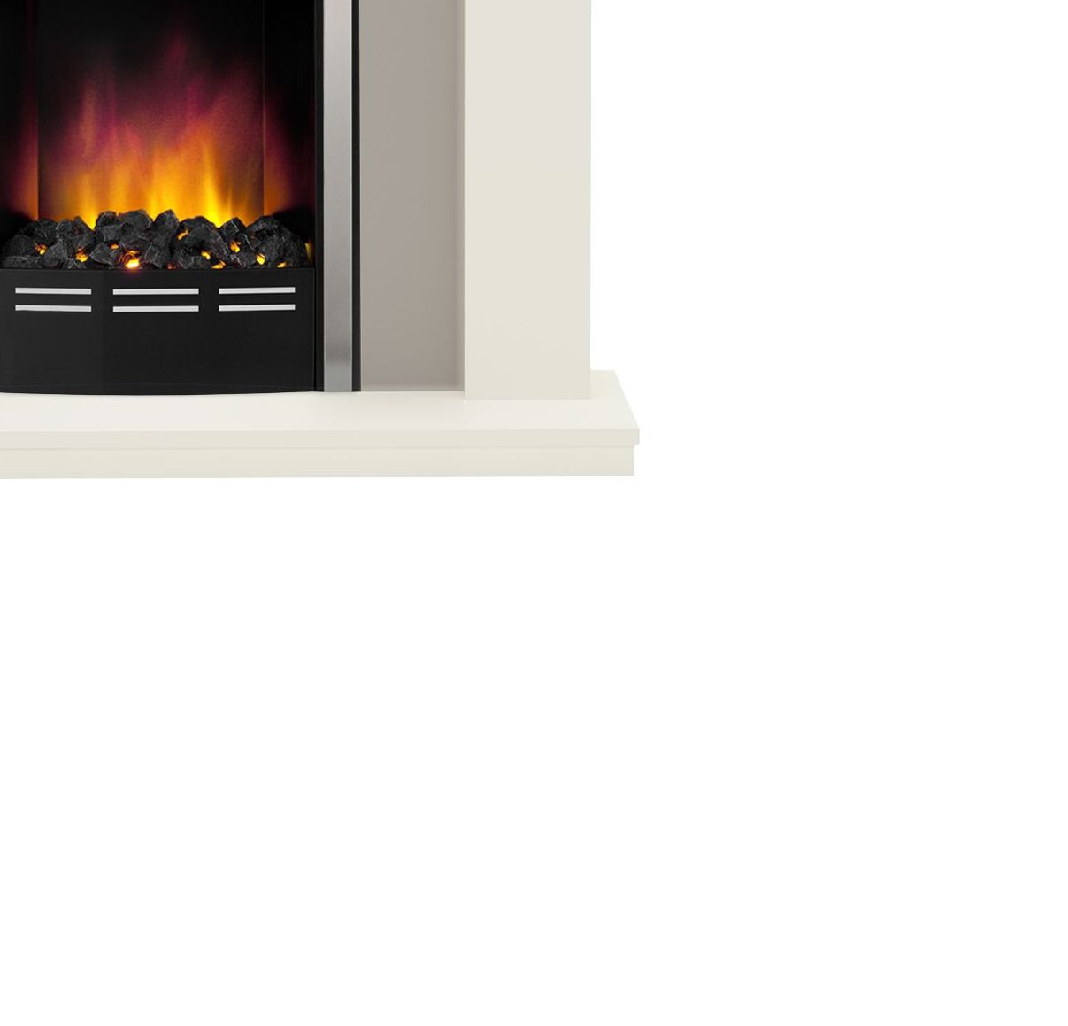 be modern colville soft white u0026 anthracite led electric fire suite