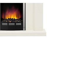 Be Modern Francis White LED Electric Fire Suite