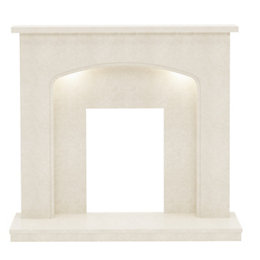 Tahlia Manila Micro Marble Fire Surround with Lights