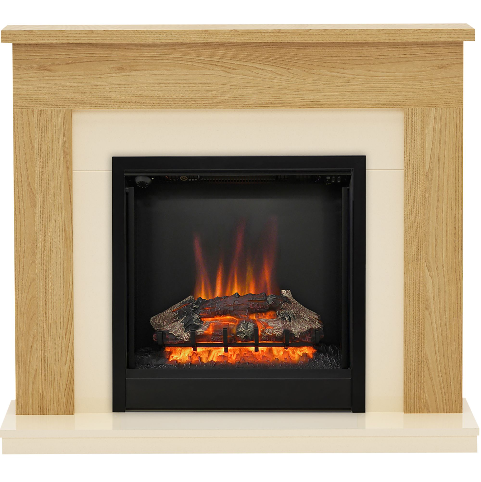 Be Modern Blakemere Oak Effect Led Electric Fire Suite
