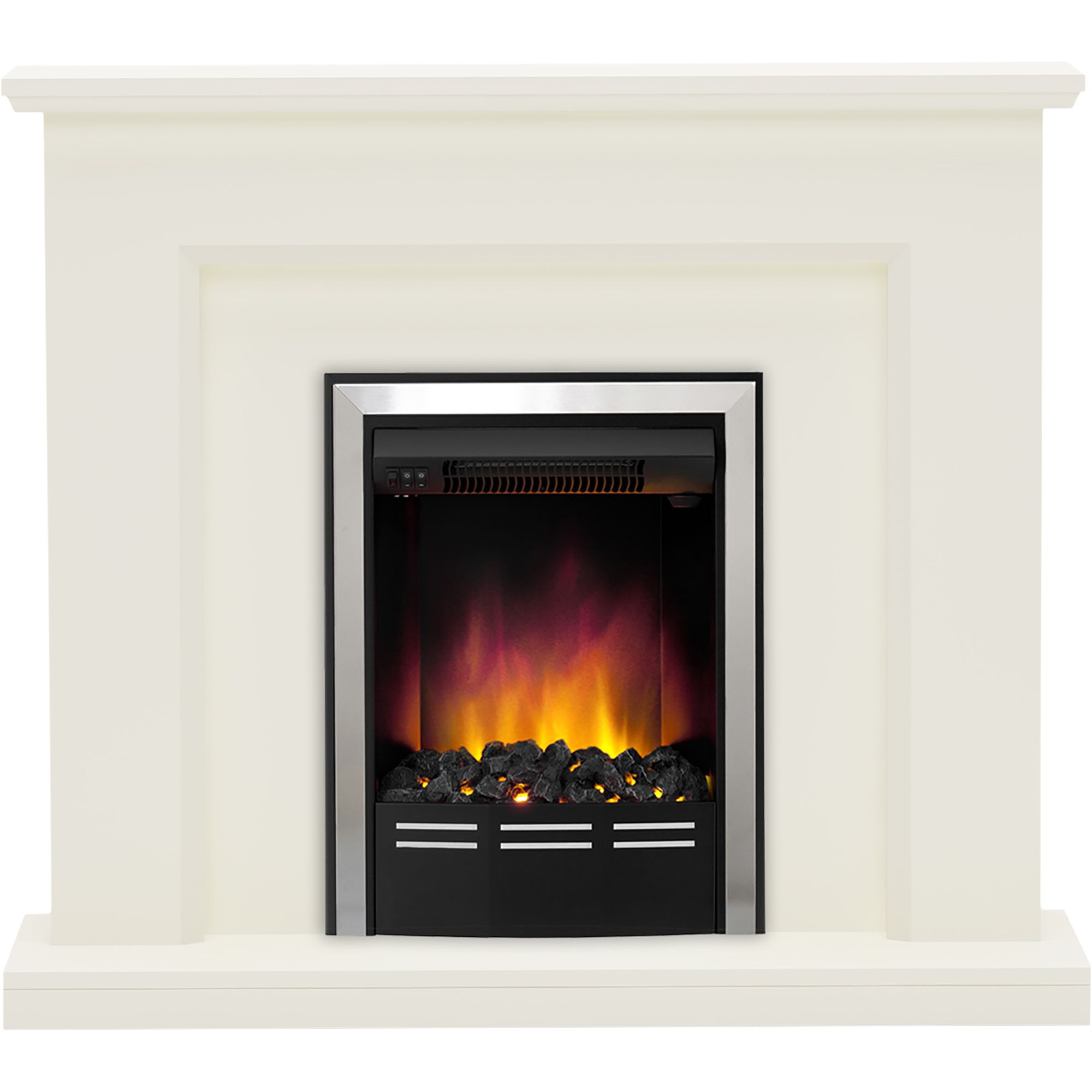 Be Modern Francis Soft White Led Electric Fire Suite
