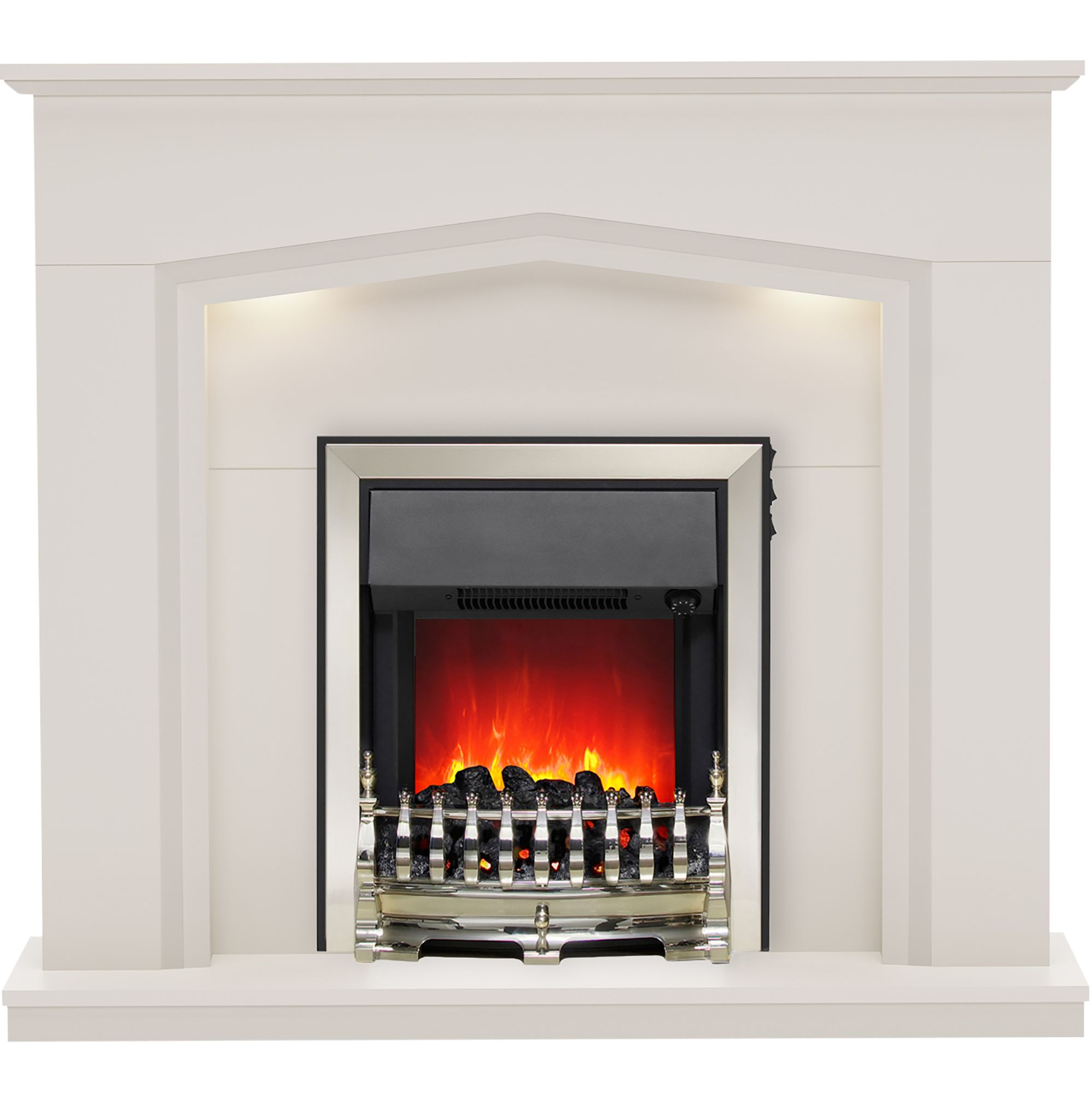 Be Modern Beauport Matt Cashmere Led Electric Fire Suite