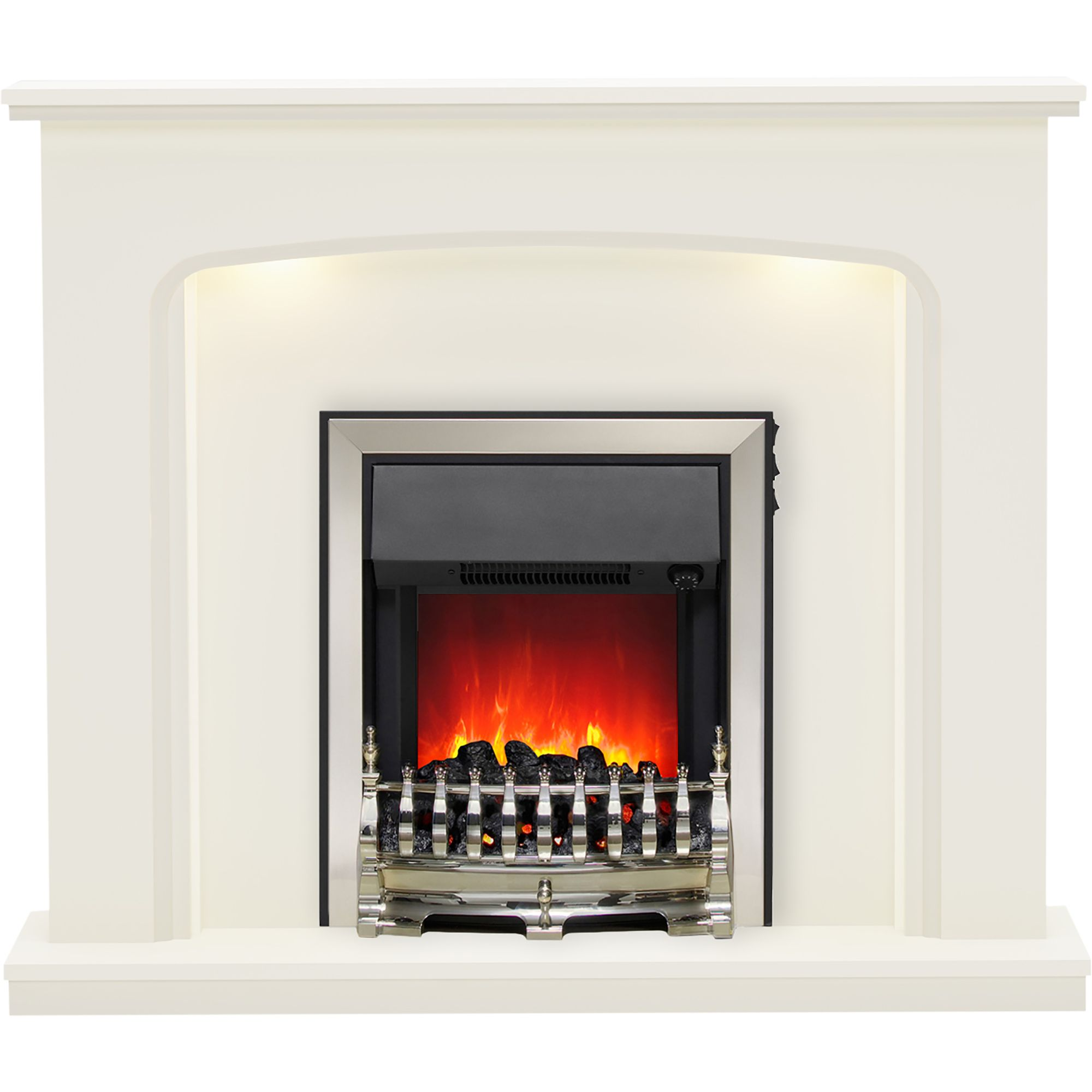 Be Modern Ellison Black Led Electric Fire Suite