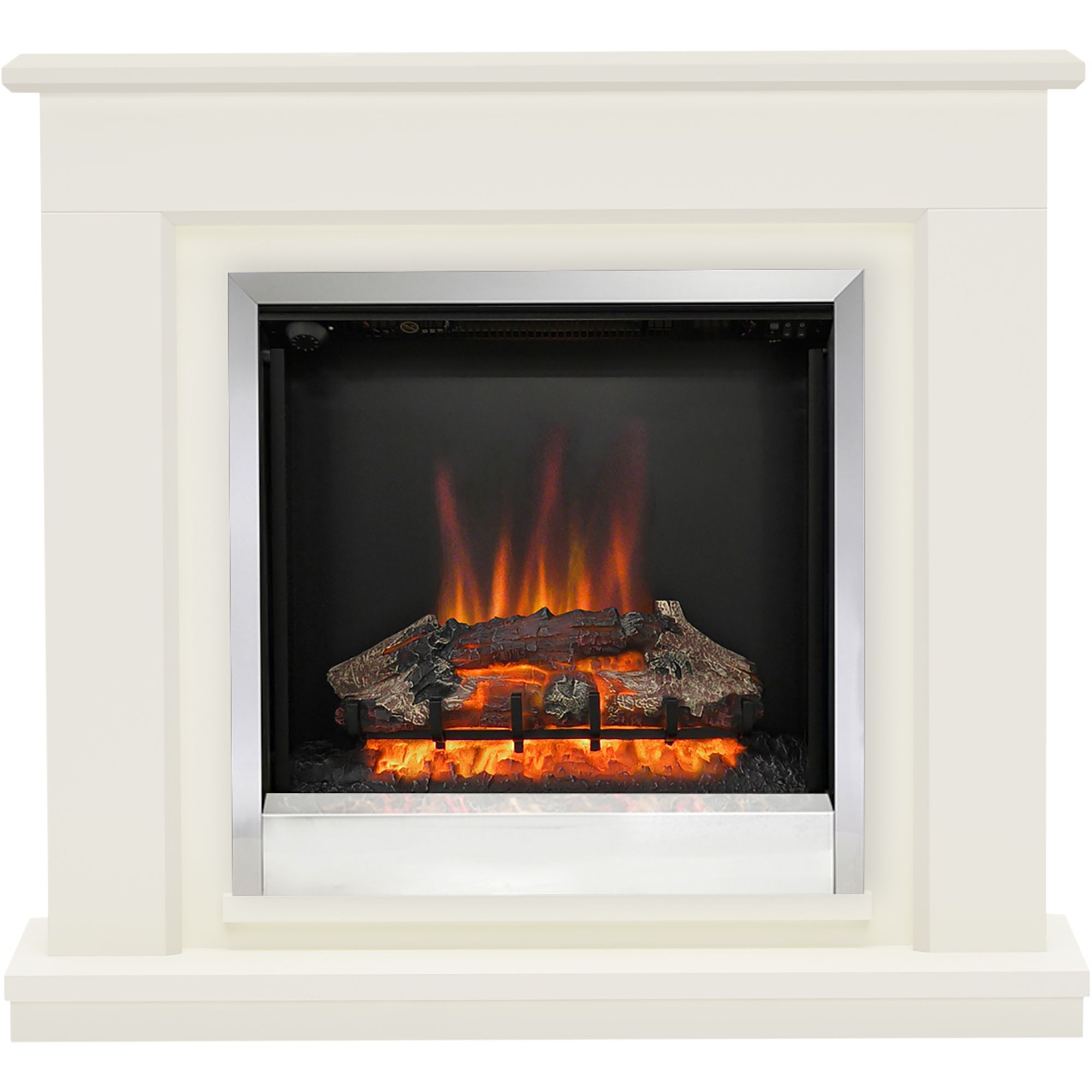 Be Modern Edmonton Black Led Electric Fire Suite