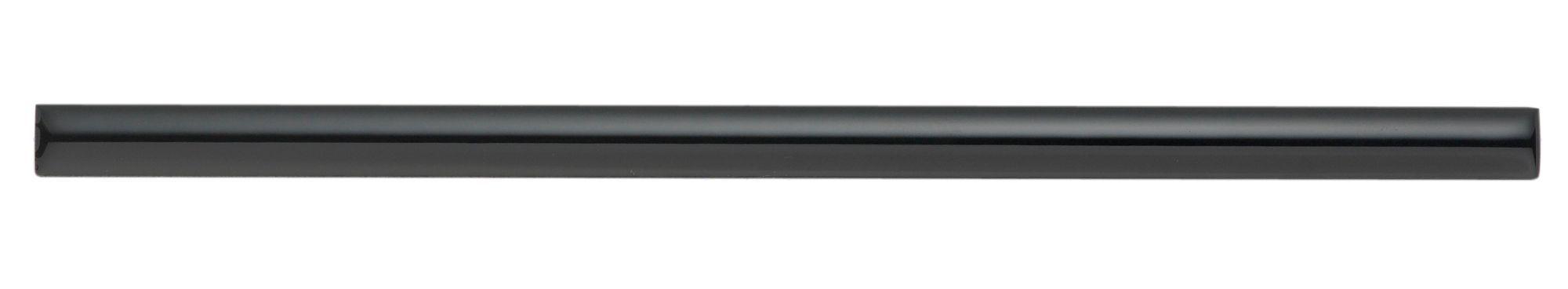 Pencil Black Ceramic Border Tile, (l)250mm (w)12mm