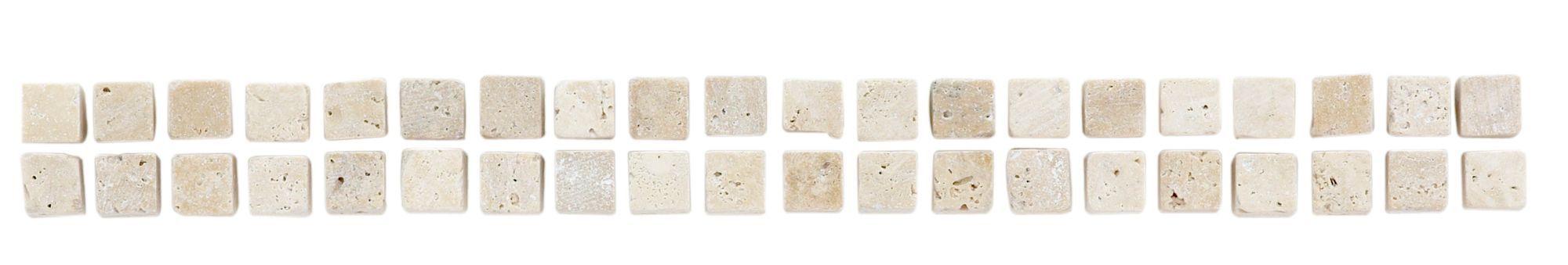Beige Ridged Travertine Border Tile, (l)254mm (w)23mm