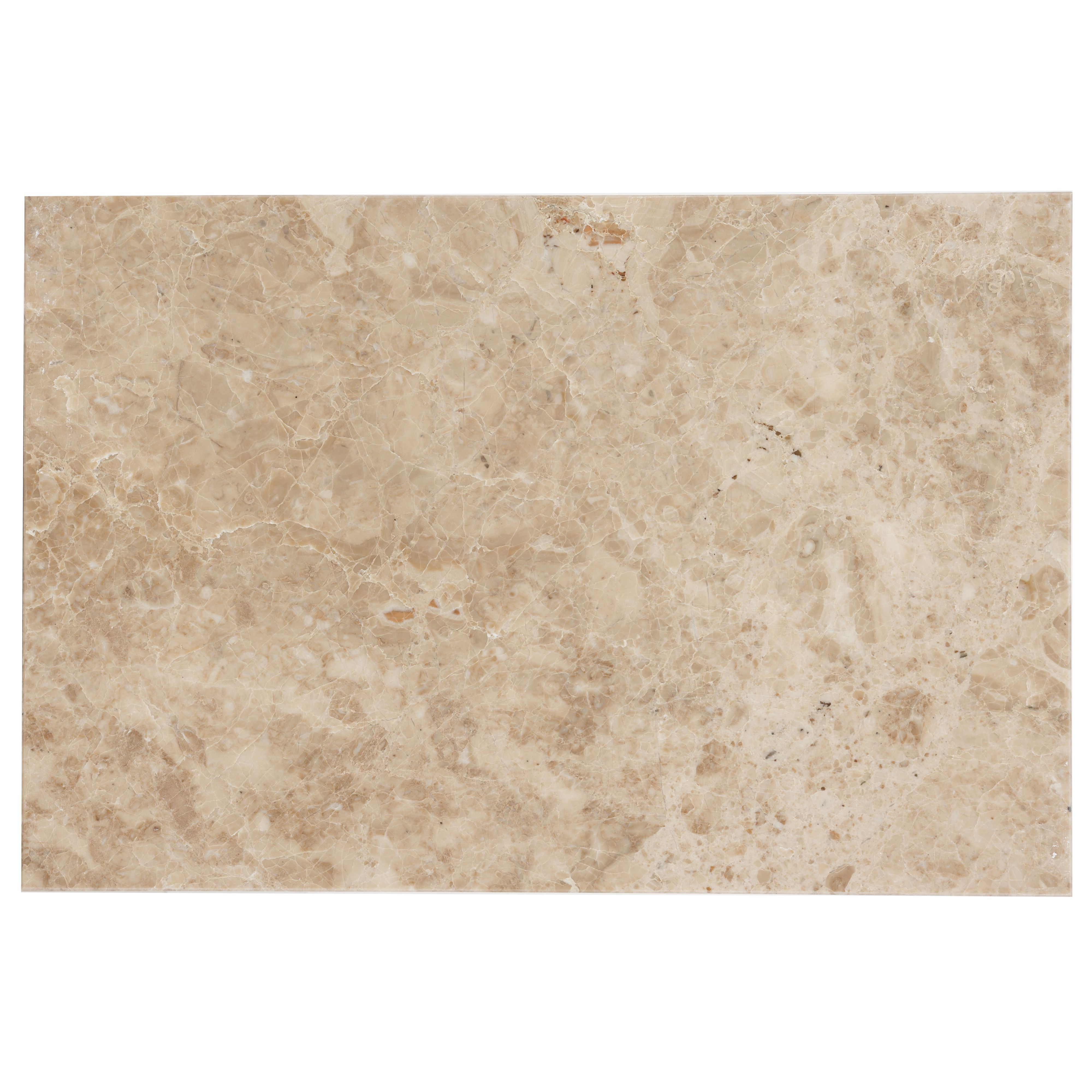 Beige Marble Effect Marble Wall & Floor Tile, Pack Of 5, (l)305mm (w)457mm