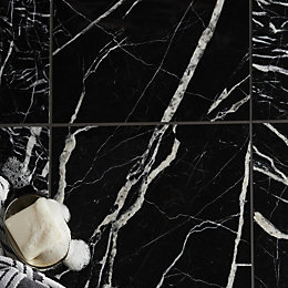 Black Marble Black Marble Wall & Floor Tile,