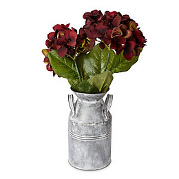 Brown & Green Hydrangea Artificial Floral Arrangement