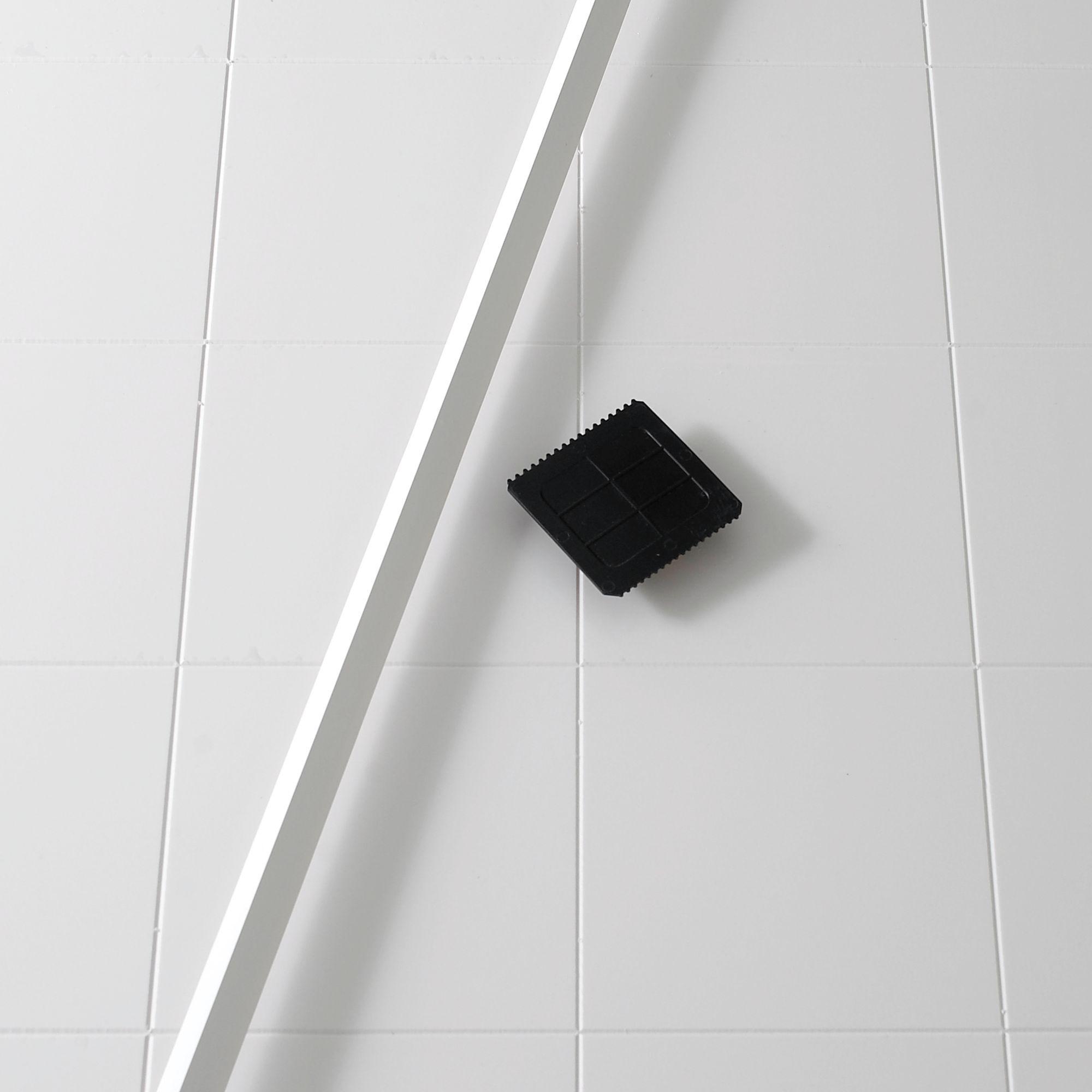 B&Q Plastic White Tile Panel Kit (L)1.9m