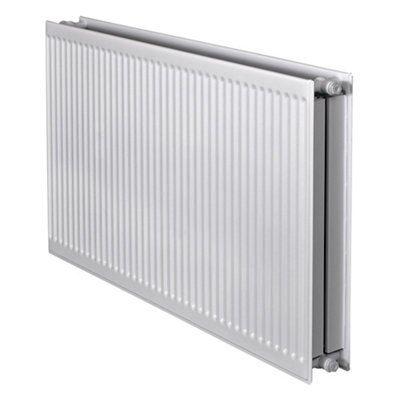 barlo round top type 22 double panel radiator white h. Black Bedroom Furniture Sets. Home Design Ideas