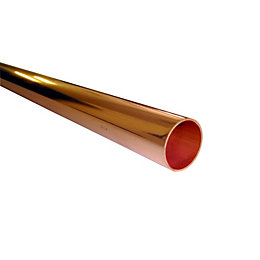Wednesbury Copper Tube (Dia)22mm (L)3m, Pack of 1