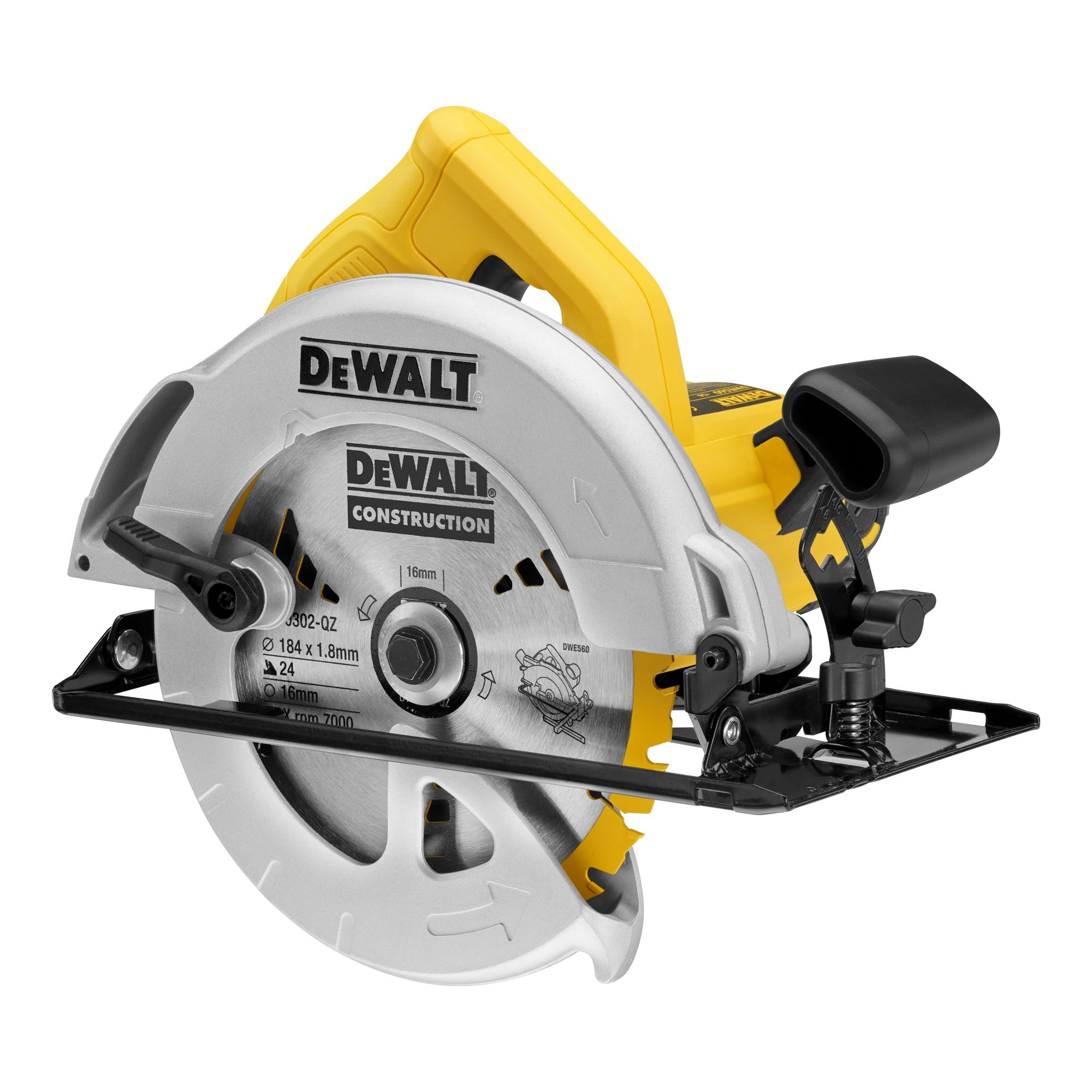 Dewalt 1350w 240v 184mm Circular Saw Dwe560 Gb