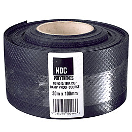 Damplas Black Damp Proof Course (W)100mm (L)30m