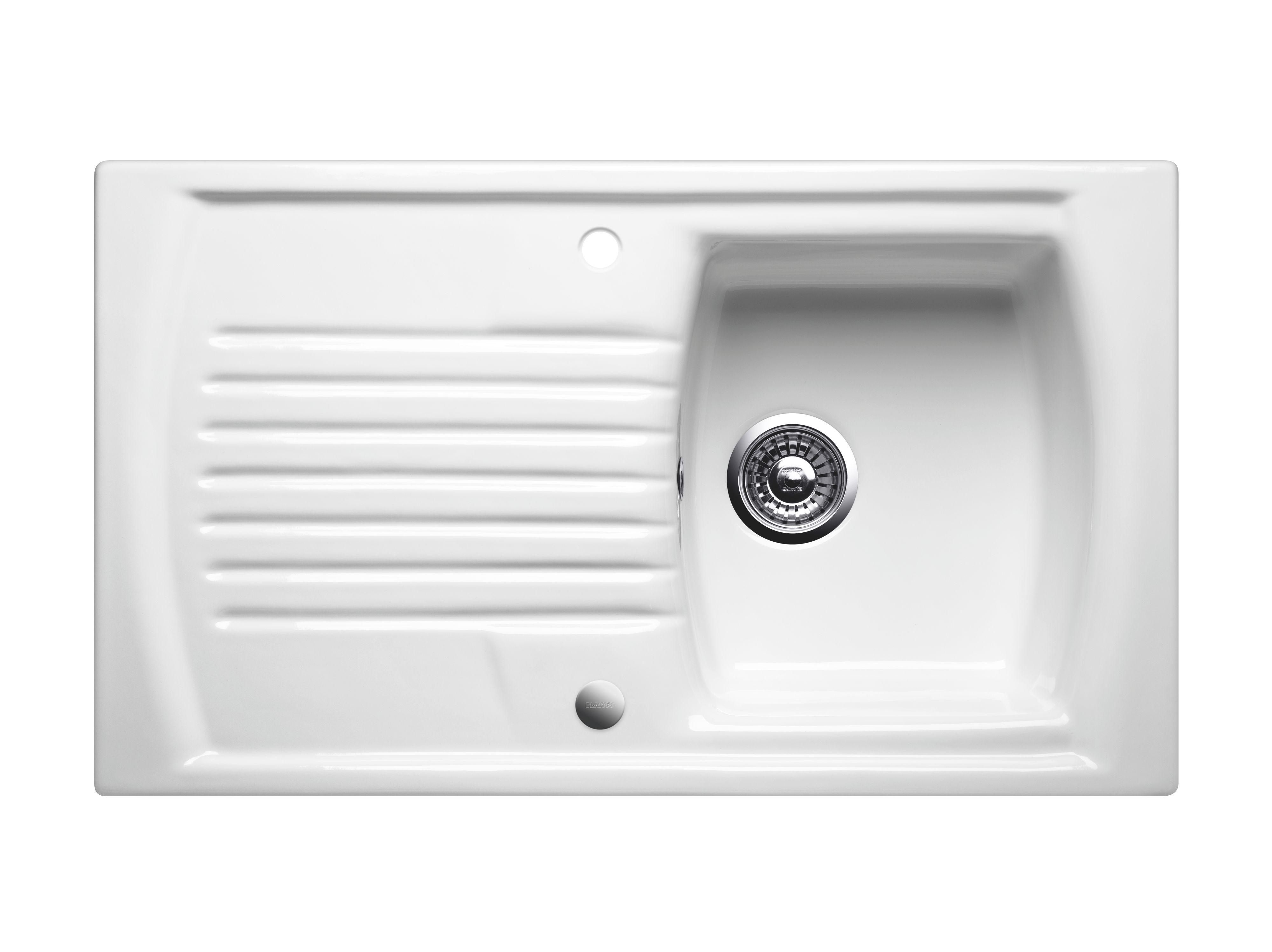 Blanco Setura 1 Bowl Crystal White Ceramic Inset Sink Departments  #535257
