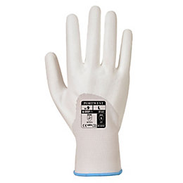 Portwest A122 White PU Ultra Gloves, Small