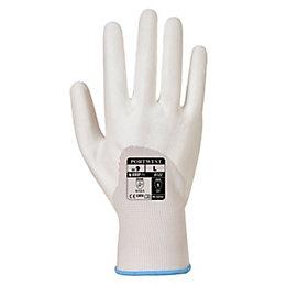 Portwest A122 White PU Ultra Gloves, Small