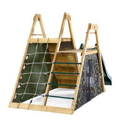 Diy Outdoor Kitchen Frames: Plum Wooden Pyramid Climbing Play Centre