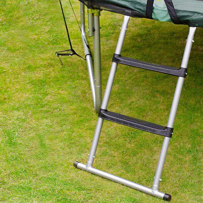Trampoline Springs B Q: Plum 3 Tread Steel Adjustable Trampoline Ladder