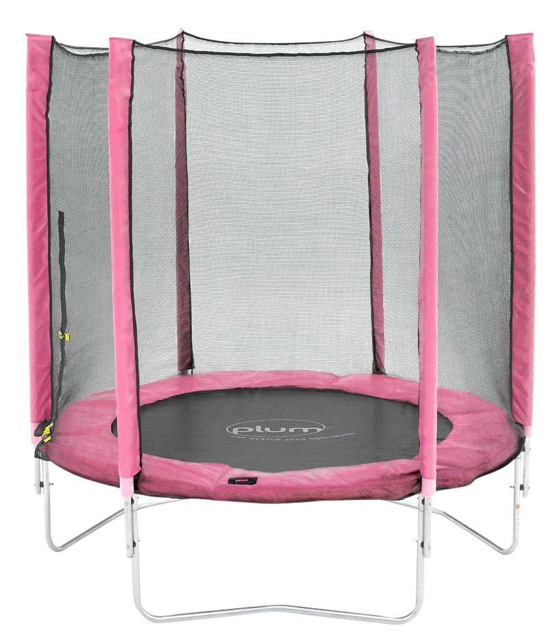 Trampoline Springs B Q: Plum Pink 6 Ft Trampoline & Enclosure