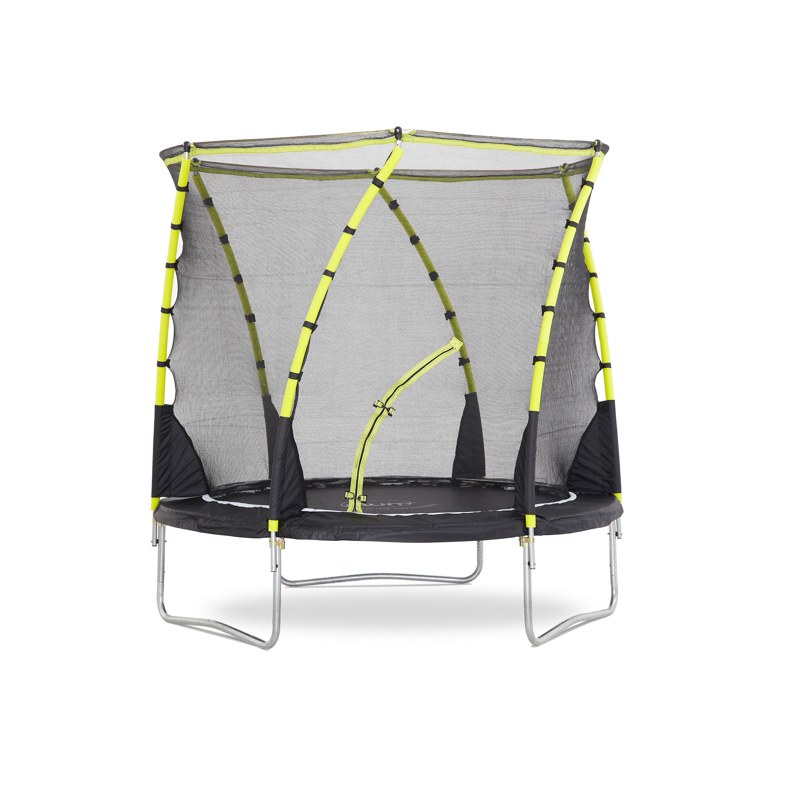 Trampoline Springs B Q: Plum Whirlwind Black & Green 8 Ft Trampoline & Enclosure