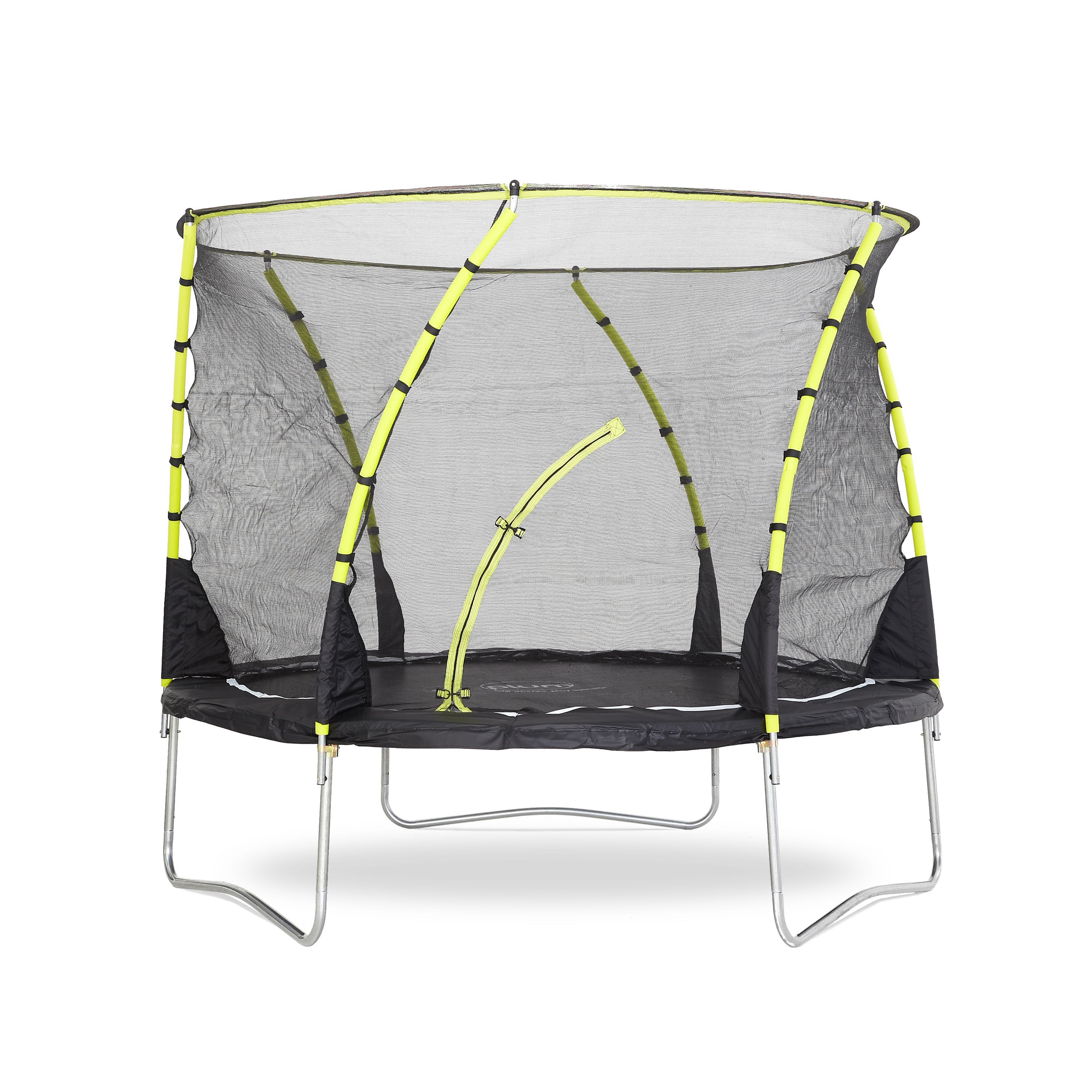 Trampoline Springs B Q: Plum Whirlwind Black & Green 10 Ft Trampoline & Enclosure