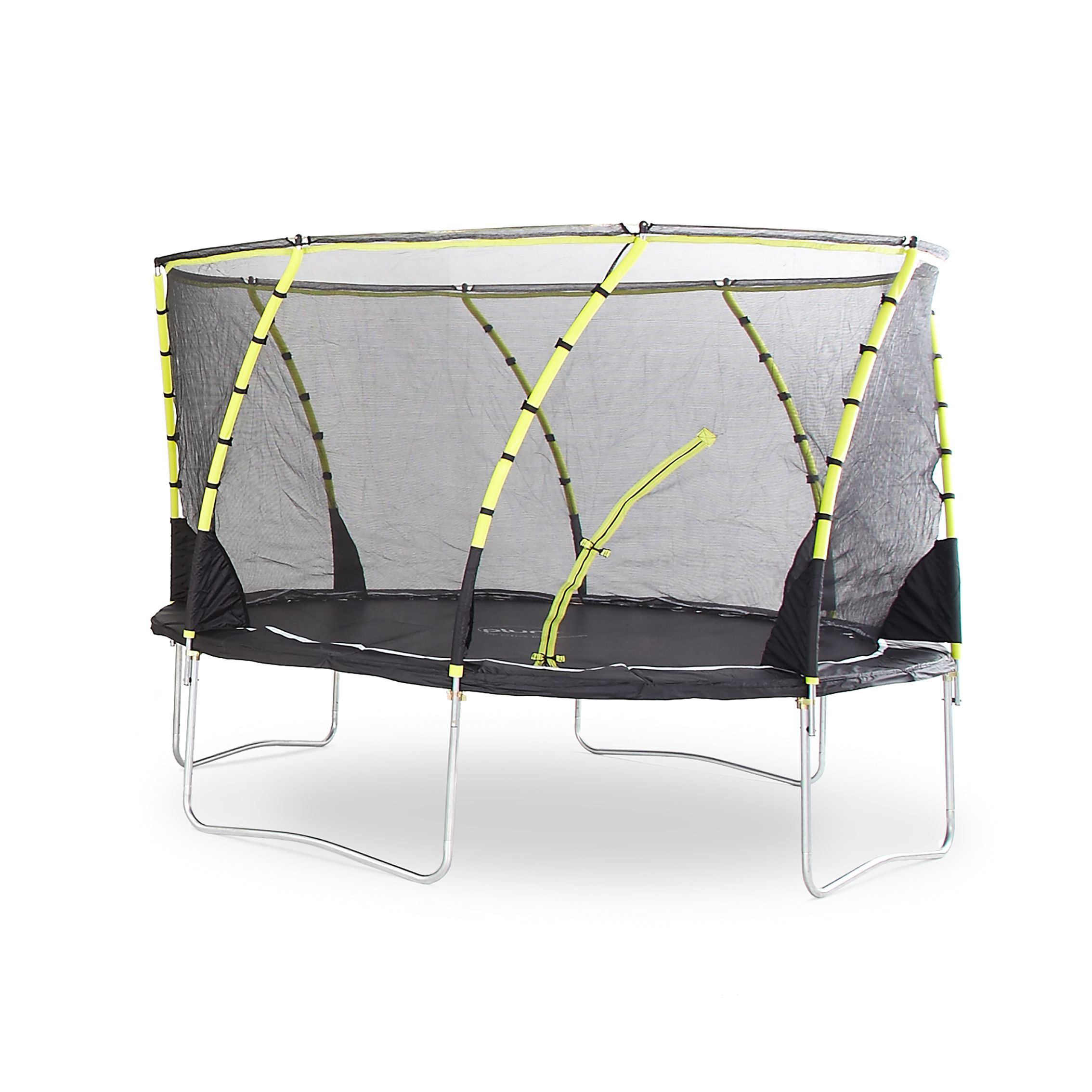 Trampoline Springs B Q: Plum Whirlwind Black & Green 12 Ft Trampoline & Enclosure