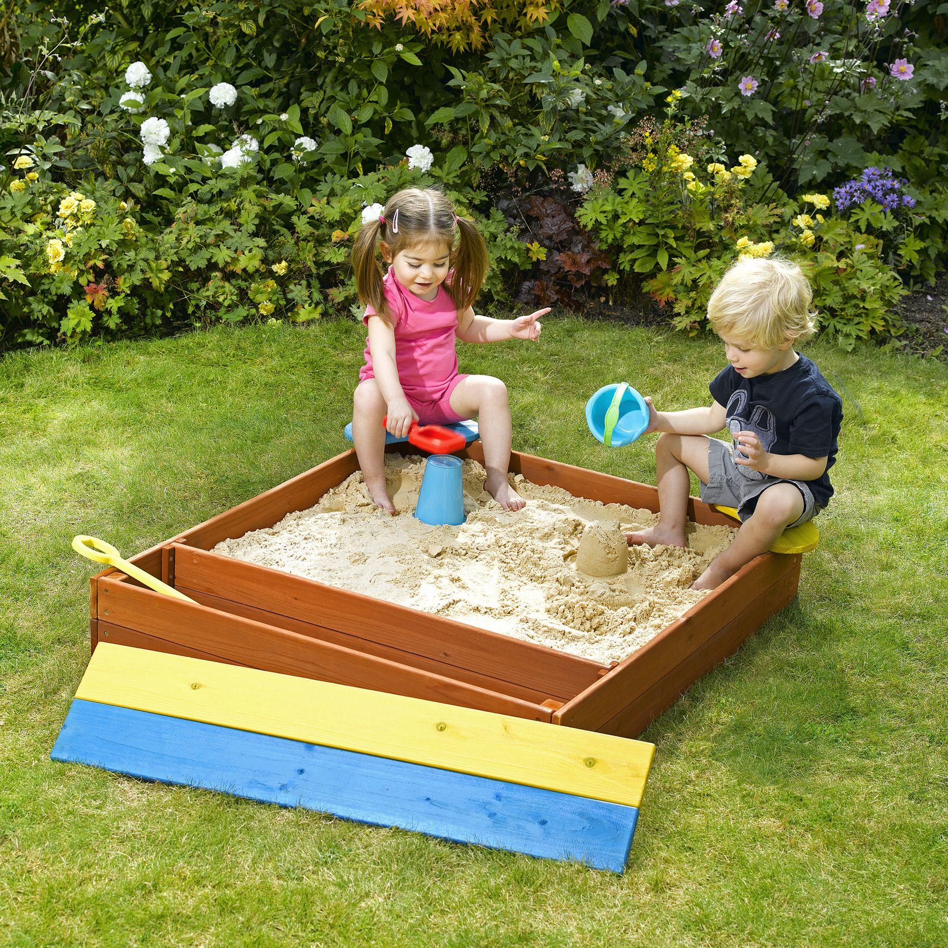 Как построить детскую песочницу своими руками 1