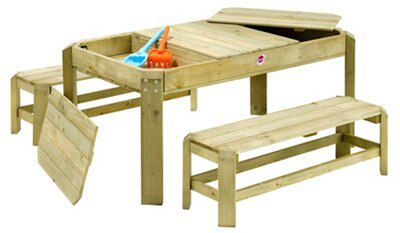 Plum Premium Wooden Activity Table With Benches