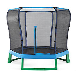 Plum Junior Green & Blue 7 ft Trampoline